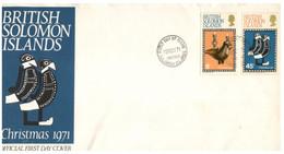 (P 15) British Solomon Island (1971) FDC Cover / Premier Jour - Chrismtas - Salomoninseln (Salomonen 1978-...)