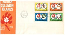 (P 15) British Solomon Island (1971) FDC Cover / Premier Jour - Pacific Games - Salomoninseln (Salomonen 1978-...)