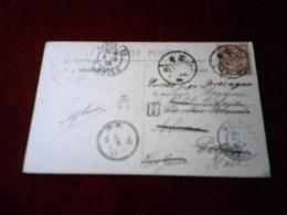 CARTE POSTALE  DE CHINE POUR PARIS  LE 6 09 1905  TIMBRE IMPERIALE  4 FOUR°°  GRANDE PORTE CHINOISE A MONGTZE - China