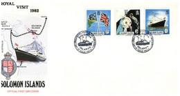 (P 15) Solomon Island (1982) FDC Cover / Premier Jour - Royal Visit - Salomoninseln (Salomonen 1978-...)