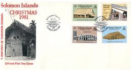 (P 15) Solomon Island (1981) FDC Cover / Premier Jour - Christmas - Salomoninseln (Salomonen 1978-...)