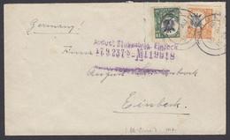 Tanganyika, Sc 12, 15 (SG 75, 77), Tied On 1923 Cover From Tanga To Germany - Tanganyika (...-1932)