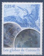 N° 4144 Les Globes De Coronelli Faciale 0,85 € - Ungebraucht