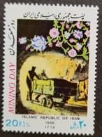 Iran Mining Day 1988 Miner Car Flower Flowers (stamp) MNH - Iran