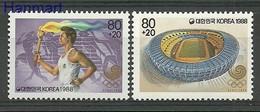 South Korea 1988 Mi 1559-1560 MNH ( ZS9 SKA1559-1560 ) - Summer 1988: Seoul