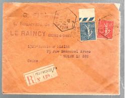37294 - Cad Recette Auxiliaire VILLEMOMBLE - Poststempel (Briefe)