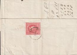 1864-CARTA-Edifil: 64 (al Dorso). ISABEL II. CARTAGENA A  MADRID. Matasello CARTAGENA / MURCIA - Cartas