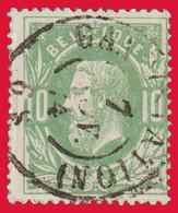 "COB 30 - Belle Oblitération Double Cercle ""GAND (STATION)"" - 1869-1883 Léopold II"