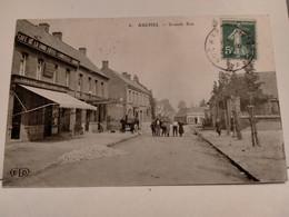 Carte Postale Ancienne -  AUCHEL  - Grande Rue - Altri Comuni