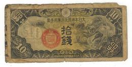 China, Japan. Ocup.  10 Sen. G/VG. - Cina