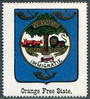 Orange Free State OVS Oranje Vrijstaat Vignette ** MNH Coat Of Arms Armoiries Blason Wappen Poster Stamp Reklamemarke - Timbres
