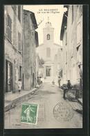 CPA Le Beausset, La Rue De L`Église, Vue De La Rue - Le Beausset