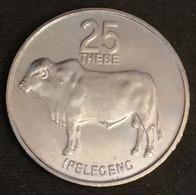 BOTSWANA - 25 THEBE 1984 - Zébu - KM 6 - Botswana