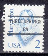 USA Precancel Vorausentwertung Preo, Locals Pennsylvania, Three Springs 846 - Prematasellado