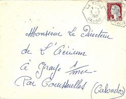 1960- Enveloppe Affr. 25 C Oblit/ Agence Postale Type F7 De LA TABLE /SAVOIE - Poststempel (Briefe)