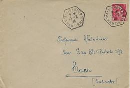 1946- Enveloppe Affr. à 3 F. Oblit. R A R Type E 4  De WAIDIGHOFFENN / HAUT RHIN - Poststempel (Briefe)