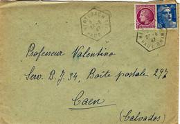 1947- Enveloppe Affr. à 6 F. Oblit. R A R Type E 4  De  HIRTZBACH / HAUT RHIN - Poststempel (Briefe)