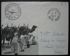 Algérie 1958 Enveloppe Illustrée, Secteur Postal 88.918 AFN, Pour Coulonges De Perignac Charente Maritime - Cartas