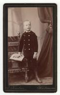 CDV Photo Foto Um 1890 - J. Kreutzer, Kaufbeuren - Hübscher Kleiner Knabe Im Anzug - Old (before 1900)