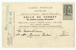 N°81 - 1c. Gris Preo BRUXELLES 05 Sur CP (SALLE DU CORNET) Vers La Ville - 16133 - Prematasellados