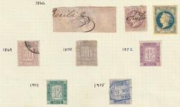 1866-75. */º SELLOS FISCALES-RECIBOS. Lote De Ocho Sellos - Fiscales