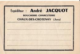 PUBLICITE AUTOCOLLANT  JURA : ANDRE JACQUOT BOUCHERIE CHACUTERIE  CHAUX DES CROTENAY - Werbung