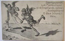 Großbritannien Sportgewandt Zum Meeresstrand, Englands Söhne, 1914 (6310)  - Weltkrieg 1914-18