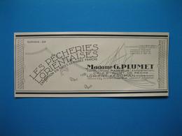 (1949) Pêcheries Lorientaises Madame G. PLUMET à Lorient-Kéroman -- Marée Fraîche BOURETZ & WATTEZ à Boulogne-sur-Mer - Werbung
