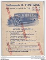 Au Plus Rapide Publicité Transport Autobus Autocar H Fontaine Bruxelles Belgique - Werbung