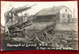 Luxembourg Fliegerangriff Auf Luxemburg , 10.2.17. Ein Wagen Von Einer Bombe Zersplittert - Luxemburg - Town