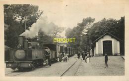 44 St Brévin L'Océan, La Gare, Arrivée Du Train De Paimboeuf, Cheminots Et Voyageurs, Beau Plan De La Locomotive - Saint-Brevin-l'Océan