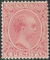 1889. * Edifil: 227. ALFONSO XIII-PELON - 1889-1931 Kingdom: Alphonse XIII