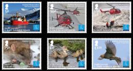 South Georgia & South Sandwich Islands 2013 Habitat Restoration Helicopter Ship Birds 6v MNH - Géorgie Du Sud