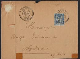 Cachet Type B MARNAY (Aube)1901,Aff 15c Annulé Par Cachet à Date,très Beau Cachet - Storia Postale