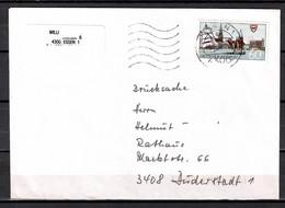 BRD; MiNr. 1598, 750 Jahre Stadt Kiel, Auf Portoger. Drucksache Von Essen Nach Duderstdt; B-1554 - [7] Federal Republic