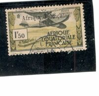 FRENCH  EQUATORIAL AFRICA 1940-1: Yvert PA14used (but Small Crease) Cat.Value 272Euros - Oblitérés