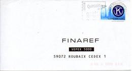 LUXEMBOURG. N°1503 De 2001 Sur Enveloppe Ayant Circulé. Kiwanis. - Organisaties