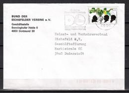 BRD; MiNr. 1599, 125. JT Der Gründung Des Zuckerinstituts, Auf Portoger. Brief Von Dortmund Nach Duderstdt; B-1555 - [7] Federal Republic