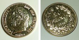 Copie Pièce De Monnaie En Métal Doré, 20 Francs 1846, Louis Philippe I 1er Roi Des Français, France, Domard - Unknown Origin