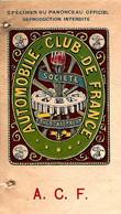 1912 PUBLICITE AUTOMOBILE CLUB DE FRANCE Paris HOTEL RICHELIEU LA BOURBOULE CONTRAT SIGNE  VOIR SCANS - Werbung