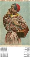 WW ALGERIE. Cireur Indigène. Verso Tarifs D'un Vin Sénéclauze Domaine Saint-Eugène à Oran 1915 - Profesiones