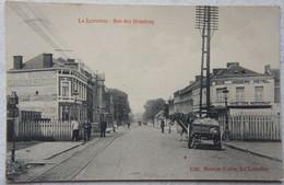 CPA LA LOUVIERE Rue Des Houdeng Attelage Hotel Café Restaurant Voie Du Tram - La Louvière