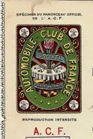 1912 PUBLICITE AUTOMOBILE CLUB DE FRANCE Paris HOTEL RICHELIEU LA BOURBOULE RECU SIGNE  VOIR SCANS - Werbung