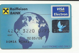 Romania, Raiffeisen Bank, Exp. Date 2008. - Credit Cards (Exp. Date Min. 10 Years)