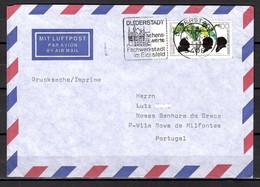 BRD; MiNr. 1599, 125. JT Zuckerinstituts, Auf Portoger. Drucksache / Ausland Von Duderstadt Nach Portugal; B-1556 - [7] Federal Republic
