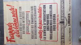 39-45-TRES RARE AFFICHE PROPAGANDE LIMOGES- PETAIN VICHY-FRAPPEZ A LA BONNE PORTE-MILICE-STO-OCCUPATION-COLLABORATION - Posters