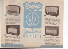 (TSF) Circulaire RADIOLA Recto Verso (M0766) - Werbung