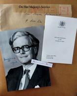 Douglas HURD - Photo Signée 1984 - UK Belfast Parti Conservateur - Northern Ireland - Né Marlborough  > France Autograph - Autographs
