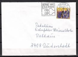 BRD; MiNr. 1600, 100. TT Von Ernst Jakob Renz, Auf Portoger. Brief Von Herne Nach Duderstadt; B-1559 - [7] Federal Republic