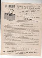 Paris 4e,  Rue Malher : (TSF) Circulaire HETERONDIA Recharge Accumulateur (PPP23886) - Werbung